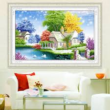 online get cheap castle bedroom aliexpress com alibaba group 99 66 living room with diamond cross stitch diamond dream castle bedroom landscape painting diamond