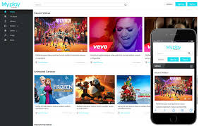 templates for video website video content portal mobile web templates
