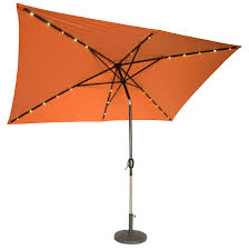 Lighted Patio Umbrella 10 X 6 5 Rectangular Solar Powered Led Lighted Patio Umbrella By