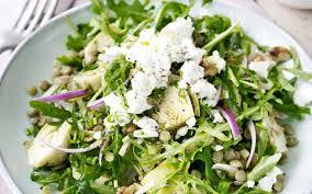 cuisine salade salade de lentilles et fromage de chèvre cuisine et recettes
