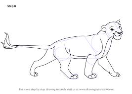 step step draw sarabi lion king