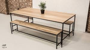 dining table and bench set industrial dining table bench set