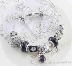 european charm bracelet beads images Top 925 sterling silver black murano glass crystal european jpg