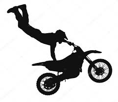 download freestyle motocross silhouette of motocross rider u2014 stock photo rihardzz 10890451
