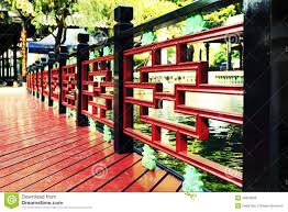 Asian Patio Design by Chinese Wood Deck Wooden Patio In Garden Stock Photo Image 46870308
