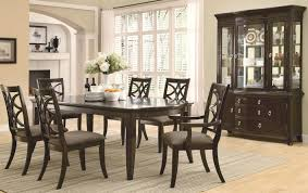 meredith espresso wood dining table set steal a sofa furniture