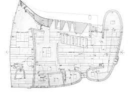 notre dame du haut floor plan plan notre dame du haut le corbusier architecture detailed