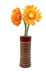 wooden flowers organic handcrafted wooden flower vase maroon artyowl