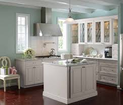 Light Blue Kitchen Cabinets by White Kitchen Cabinets With Light Gray Walls Monsterlune