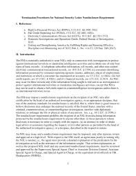 Examples Of Letters Of Recommendation For Teachers Termination Procedures For National Security Letter Nondisclosure
