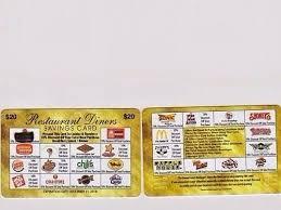 discount restaurant gift cards 20 reusable restaurant fast food fundraiser discount gift card exp