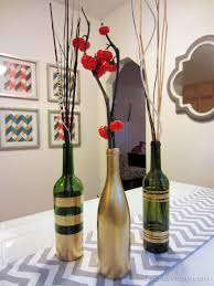 Diy Paintings For Home Decor Diy Spray Painted Wine Bottles For Fall Decorating Homey Oh My