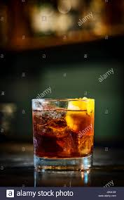 campari orange campari orange soda cocktail drink in modern bar stock photo