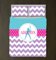 Custom Girls Bedding by Personalized Softball Duvet Cover And Shams It Is Perfect For Any