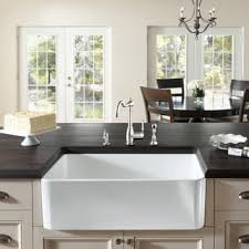 Cheap Farmhouse Kitchen Sinks Large White Fireclay Apron Front 29 5 Inch Farmhouse Kitchen Sink