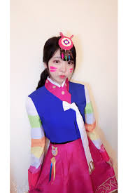 costume new year lunar new year skin d va korean costume satin version