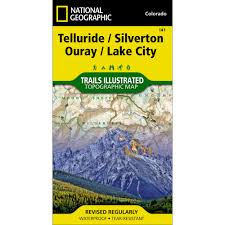 Colorado Trail Maps by 141 Telluride Silverton Ouray Lake City Trail Map National