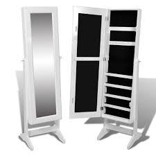 standing mirror jewelry cabinet white white free standing mirror jewelry cabinet lovdock com