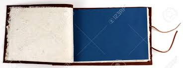leather bound scrapbook an opened leather bound scrapbook stock photo picture and