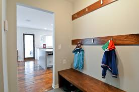 modern coat hooks modern coat rack entry traditional with built in bench transitional