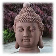 large terra cotta buddha head garden sculpture u2013 tabletopfountainsplus