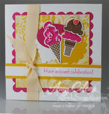 sweet scoops birthday card ustamp4fun com amy celona stampin