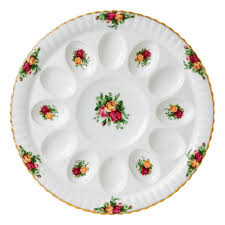 devilled egg plate country roses deviled egg tray royal albert us