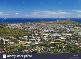 Uh Manoa Campus Map Usa Hawaii Islands Oahu Diamond Head And Uh Manoa Campus Seen