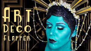 art deco flapper makeup halloween 2016 youtube