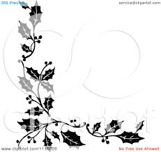 thanksgiving border clip art free black and white christmas stationery border clipart