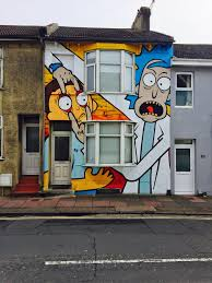 Painted Houses This Rick And Morty House In Brighton England Http Ift Tt