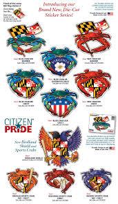 Maryland Flag Vinyl Brand New Vinyl Die Cut Citizen Pride Stickers