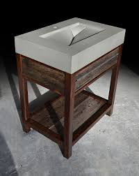 Rustic Modern Wood Furniture Hand Made Rustic Modern Concrete Wood U0026 Steel Vanity By Formed
