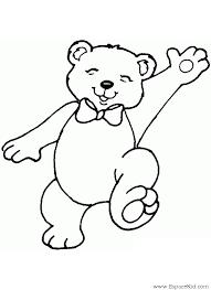 Coloriage Petit ours heureux à imprimer dans les coloriages Ours