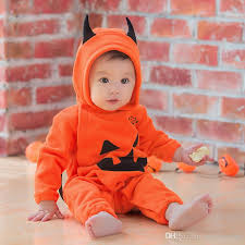 Boys Pumpkin Halloween Costume 2017 2017 Kids Girls Boys Baby Long Sleeve Halloween Costume