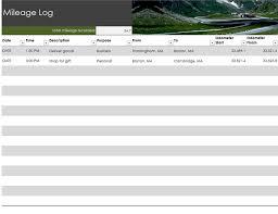 mileage report template mileage log office templates