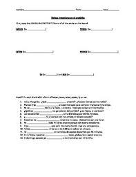 Preterite Worksheet Irregular Preterite Worksheet Conj Practice Hacer Tener Estar
