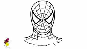 how to draw spiderman face youtube