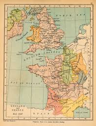 Kent England Map by Map Of England And France 1152 1327