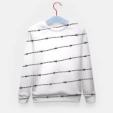 cool gray white and black barbed wire pattern kid u0027s sweater live
