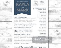 printed programs pink and gold floral wedding programs printable or printed