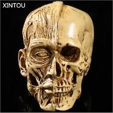 xintou artistic sketch resin skull crafts figurines halloween