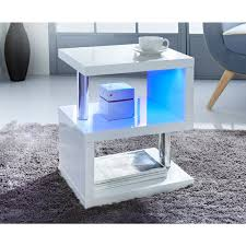 High Gloss Side Table Alaska High Gloss Side Table Living Room Furniture B M