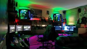 home accessories charming gaming setup ideas with colourfull