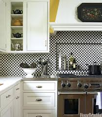 kitchen open shelves ideas tiles black and white retro kitchen open shelves storage white