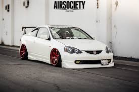 acura stance acura rsx honda integra air suspension ride bagged stance te37 010