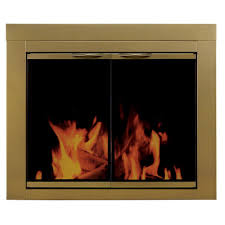 pleasant hearth ashlynn large glass fireplace doors ah 1202 the