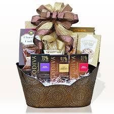 christmas gift baskets godiva chocolate indulgence gift basket gifts azelegant