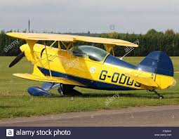 pitts special g odds parked at white waltham airfield stock photo