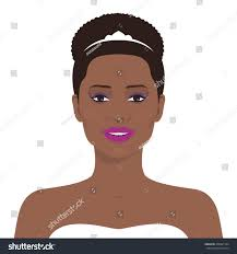 flat female face avatar pretty african stock vector 408921394